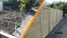 Rénovation d'une clôture sur Saint Philbert de Grand Lieu