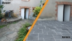 Terrasse réalisée par le paysagiste Rambaud Paysage à Saint Philbert de Bouaine